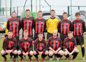 Erris United making hard work in their quest for their first three points of the opening season in the Super league.