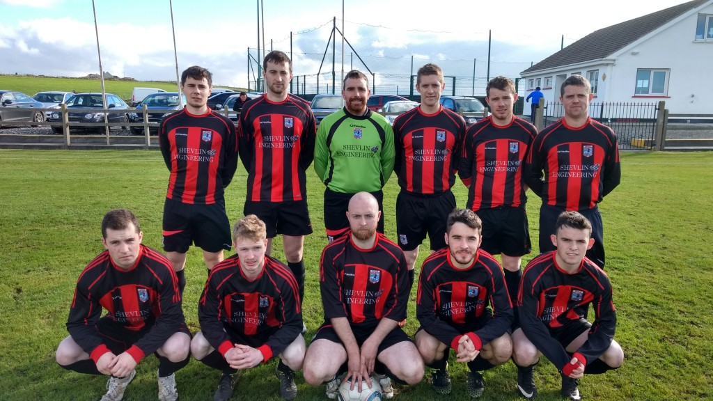 Erris Utd had Achill Rovers on the back foot in this FAI Junior cup encounter.